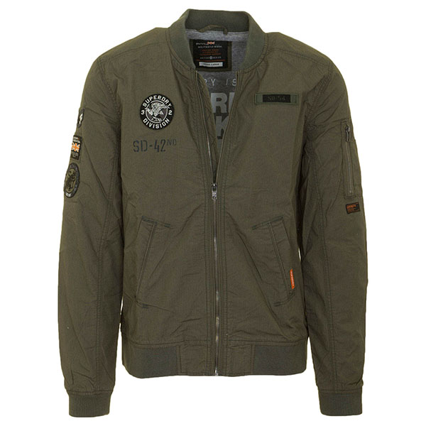 SUPERDRY LFS JAKNA ROOKIE AVIATOR PATCHED BOMBER